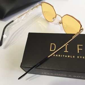 🆕 DIFF Eyewear Yellow Pixie XL Sunglasses